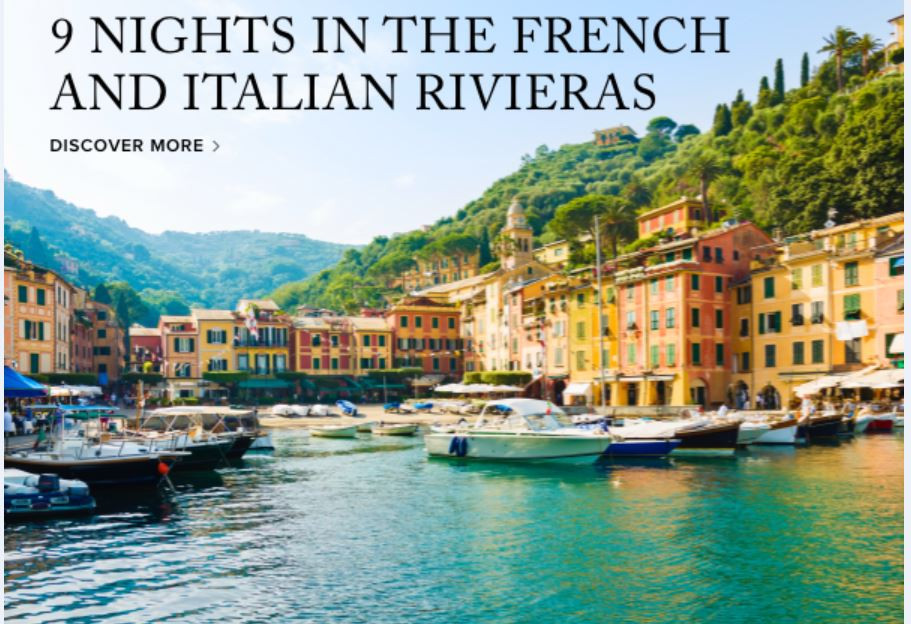 Ritz- Carlton Yacht Collection - Italy and France - The Riviera!