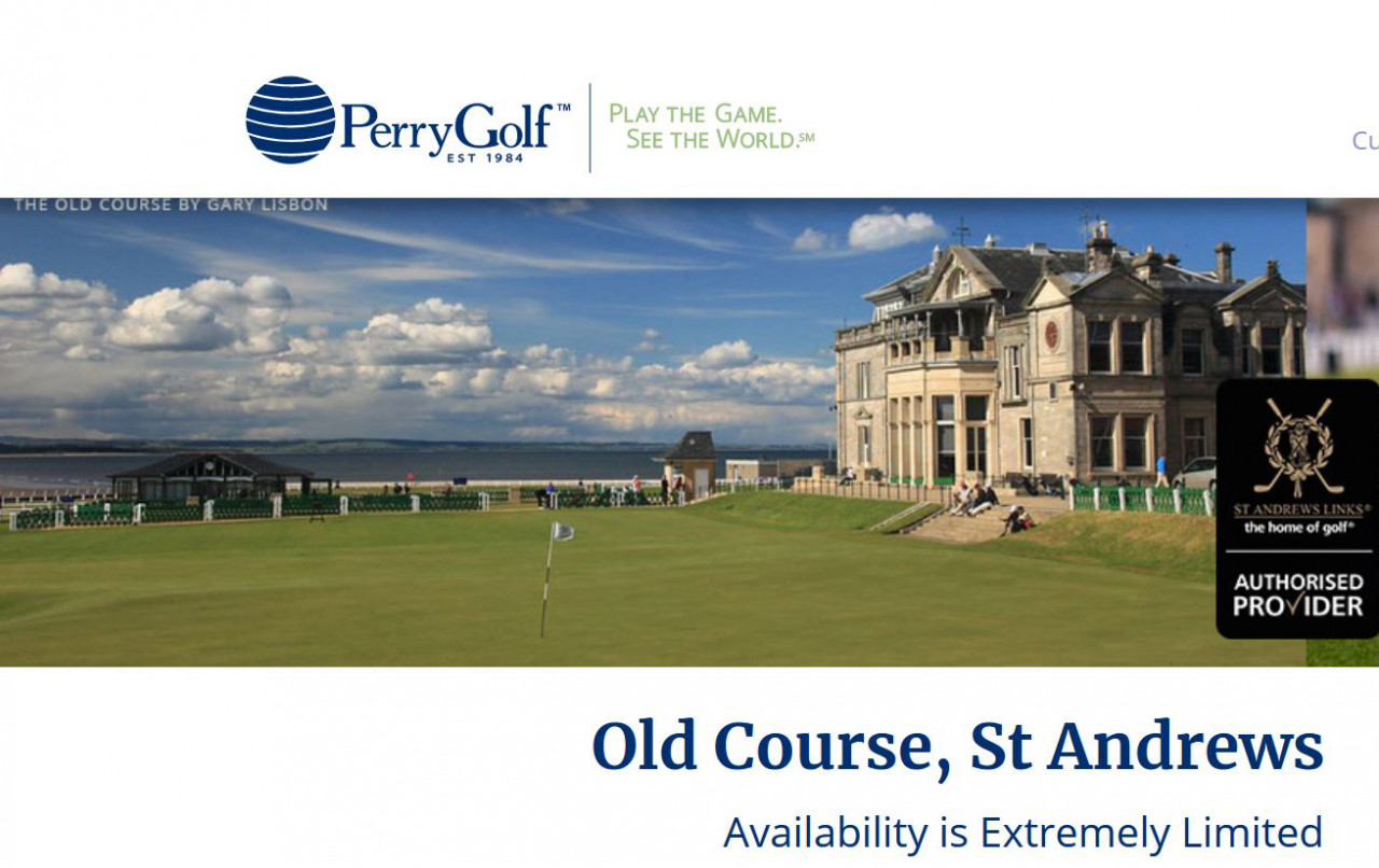 St. Andrews Old Course Short Notice Opportunity - Call Now